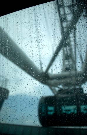 A rainy day on the Singapore Flyer