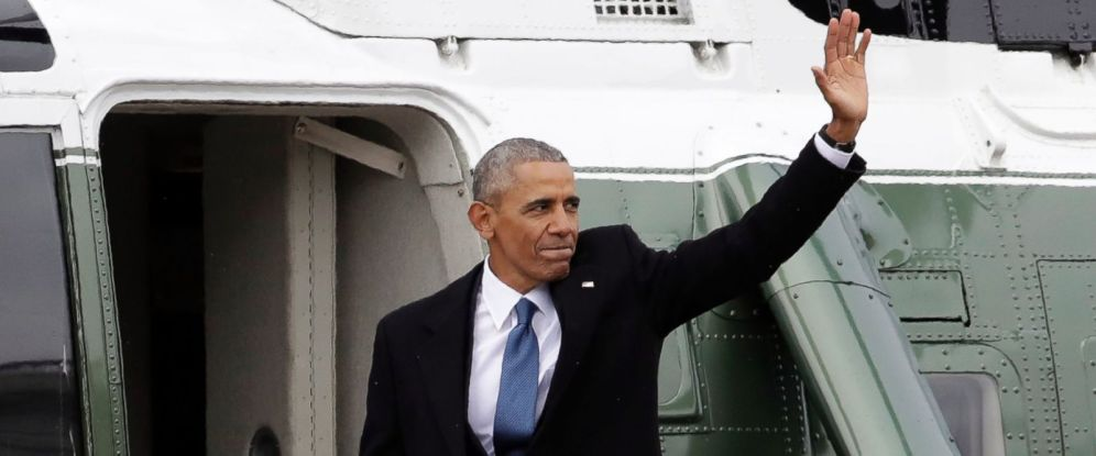 Obama Leaves The White House