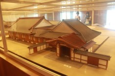 The Honmaru palace model inside the premises of Nagoya castle.