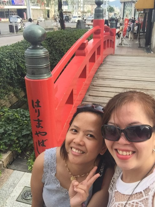 With my tour guide Crizelda at the Arimaya bridge. The bridge is located at Kochi City, not at Godaisan just to clarify hehehe.