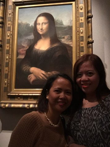 With the Monalisa replica.