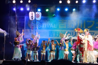Kids join the dance festival and they look so cute in those costumes.