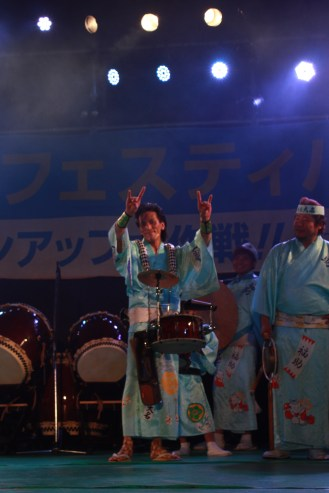 This drummer caught my attention with his unique Awa Odori drum beat. Rock n' Roll Tokushima!