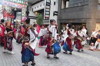 The colors and gracefulness of Yosakoi Festival.