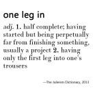 Julieism - One Leg In