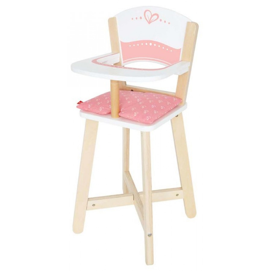 Baby Food Chair Wooden Baby High Chair Hape Doll Kids Toys Girl