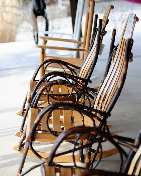 We decided that we will buy these chairs for when we are older. We envision us rocking in them in our older years, much older.