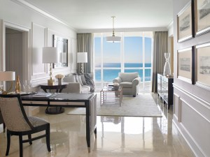 Deluxe One Bedroom Oceanfront Suite Living Room