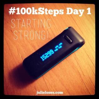 100k Steps Day 1