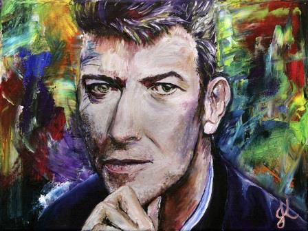 A Painting for David Bowie | Oil on Canvas by Julie Lovelock