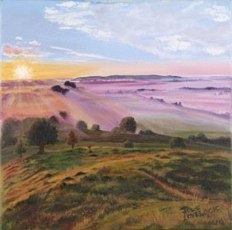 Burrow Mump | Oil on Canvas by Julie Lovelock