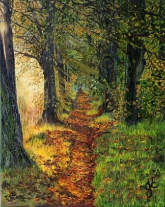 Into the Woods   Oil on Canvas by Julie Lovelock