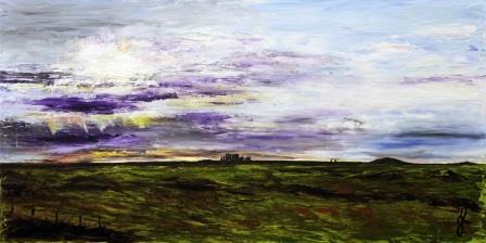 Stoney Skies v1 | Oil on Canvas by Julie Lovelock