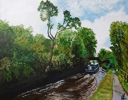 Canal Trip | Oil on Canvas by Julie Lovelock