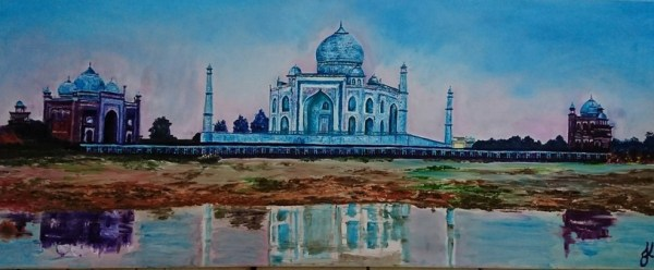 Taj Mahal | Oil on Canvas by Julie Lovelock