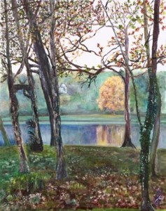 Impressions of Apollo: Stourhead Reflections series | original oil
