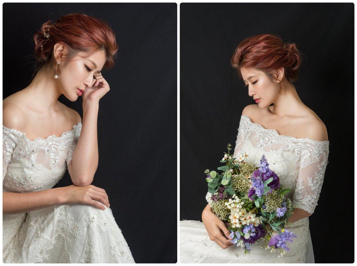 新娘單妝 Yumi白紗造型 透亮妝感純淨無瑕