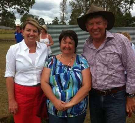 Julie, Secretary of Wivenhoe ALP branch with Premier Anna Bligh and MP Ipswich West Wayne Wendt