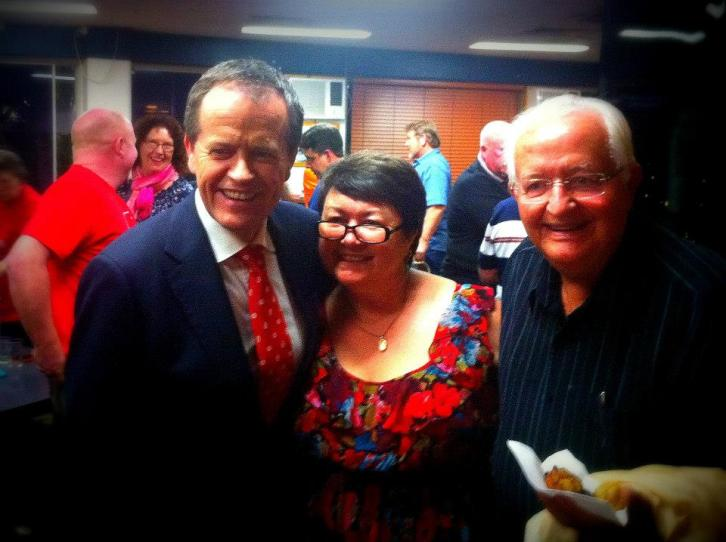 Bill Shorten leader of ALP launches Shayne Neumann for Blair campaign at Ipswich Trades Hall.