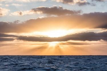 Soleil levant sur l'Atlantique