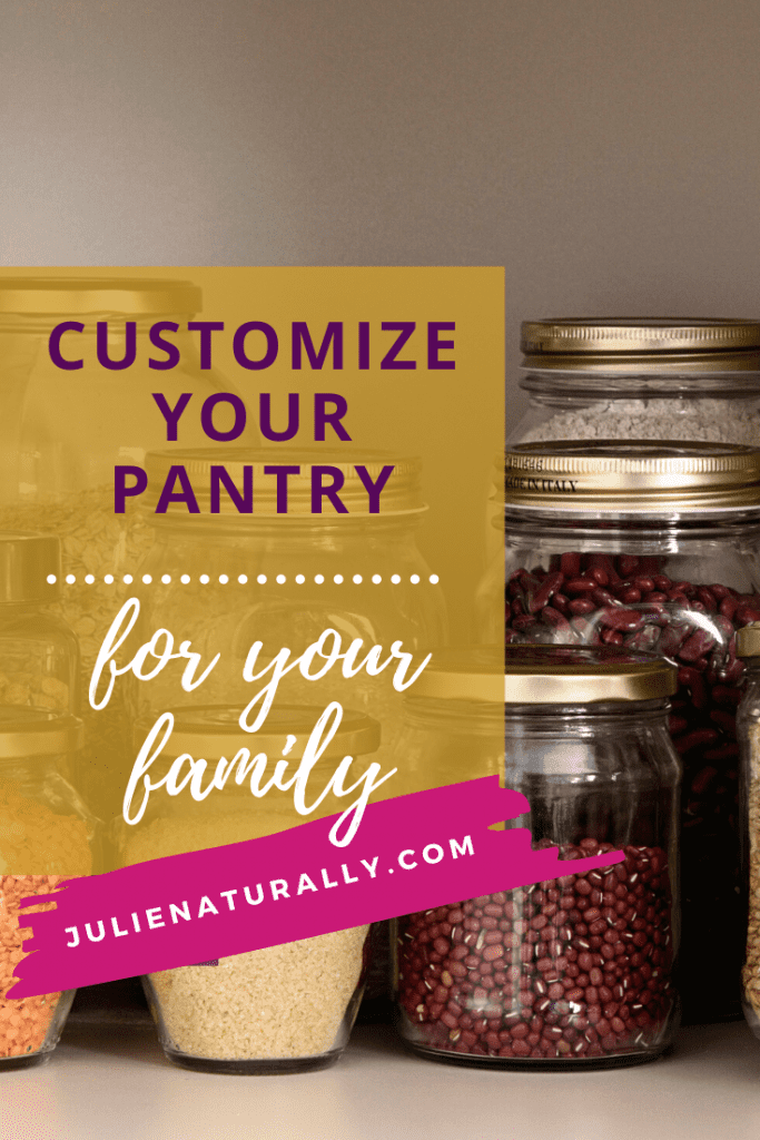 customize your pantry with rows of dried grains and beans
