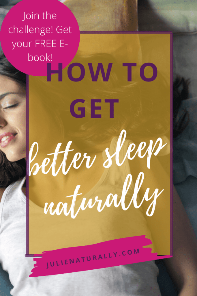 A woman showing how to get better  sleep naturally
