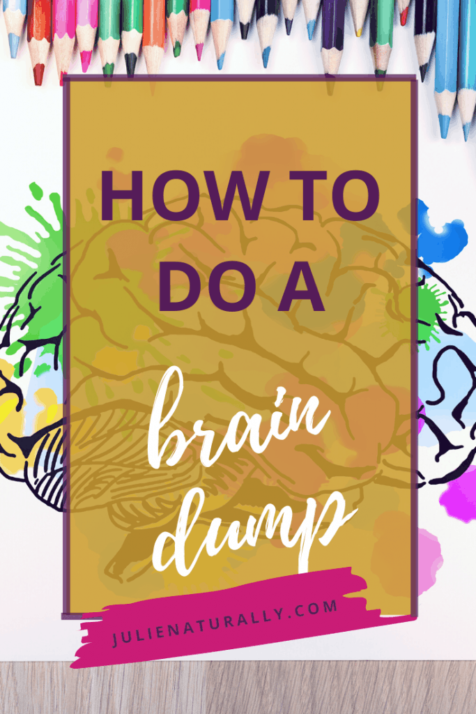 drawing of a brain dump with lots of colors and pencils