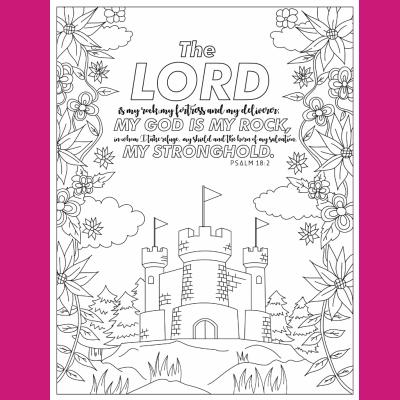 Bible Psalms adult coloring book pages
