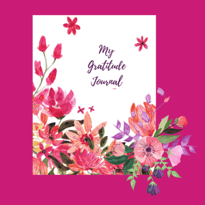 Mini Gratitude Journal with Pink Flowers