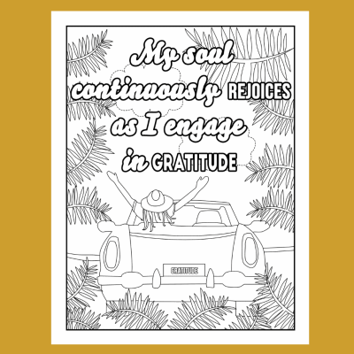 gratitude adult coloring page