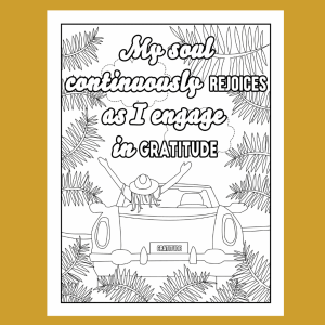 Gratitude Adult Coloring Book