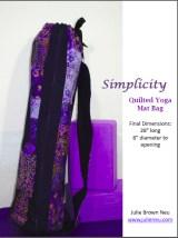 Julie Neu Quilted Yoga Mat Bag pattern PDF