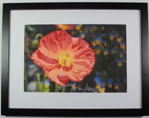 California poppy thread painting