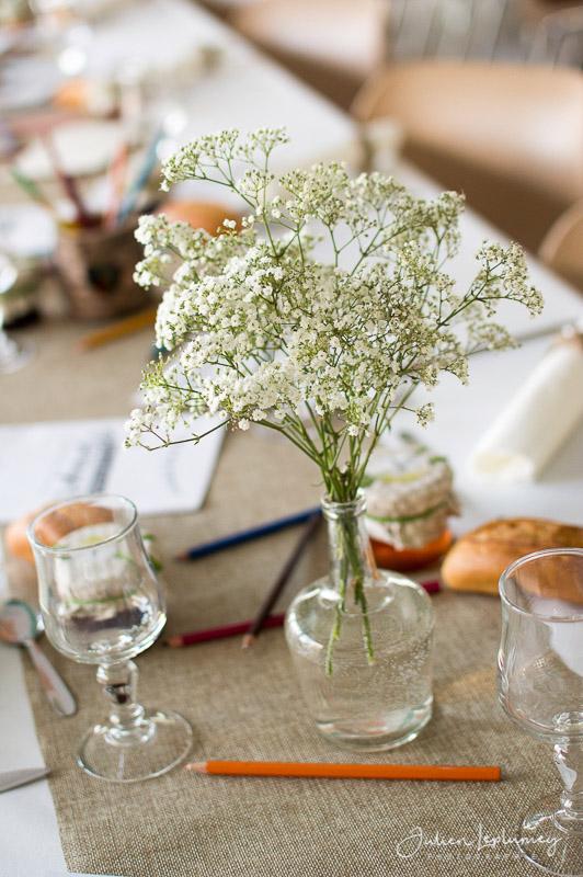 détail déco de table mariage