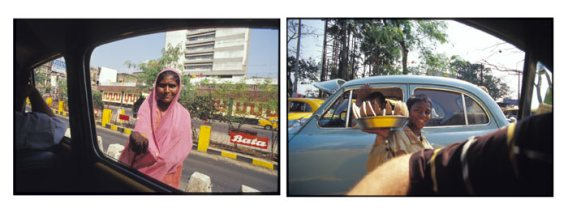 View from a Taxi - Central Kolkata, India | 2002