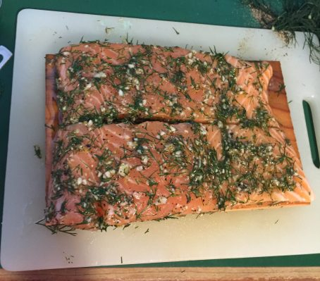 Dilly-Lemon Planked Salmon 2