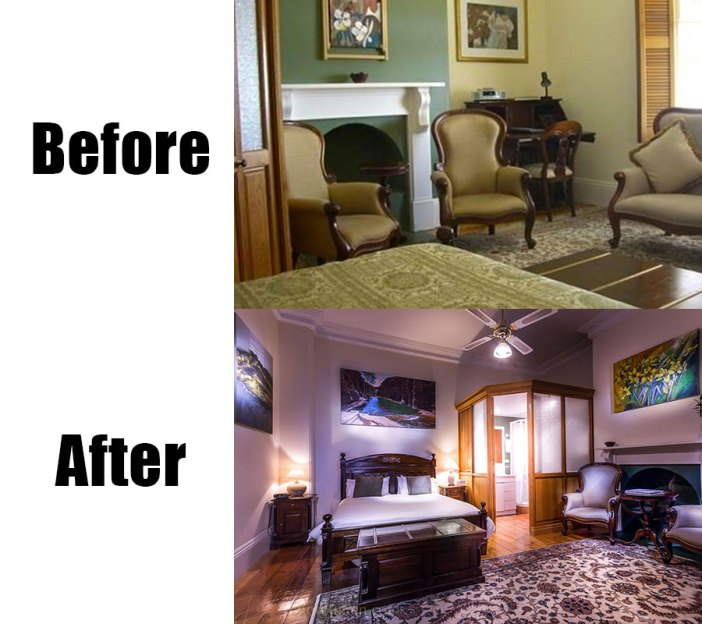 Real estate photography before and after-bed and breakfast in Fremantle