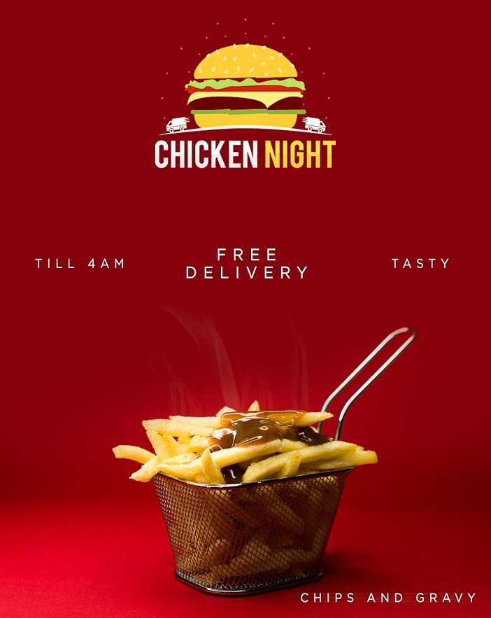 Chicken night fries and gravy campaign