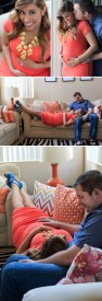 Indoor maternity photos