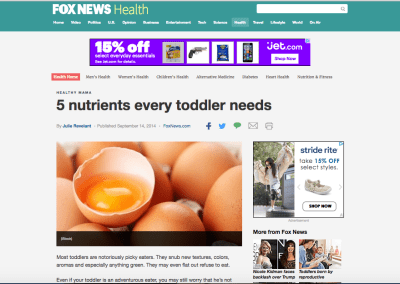5 Nutrients Every Toddler Needs