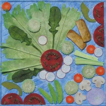 January: The Flavor of Resolve Fiber Art by Julie R. Filatoff