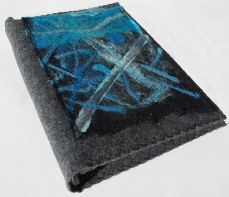 Blue Felt Art Journal