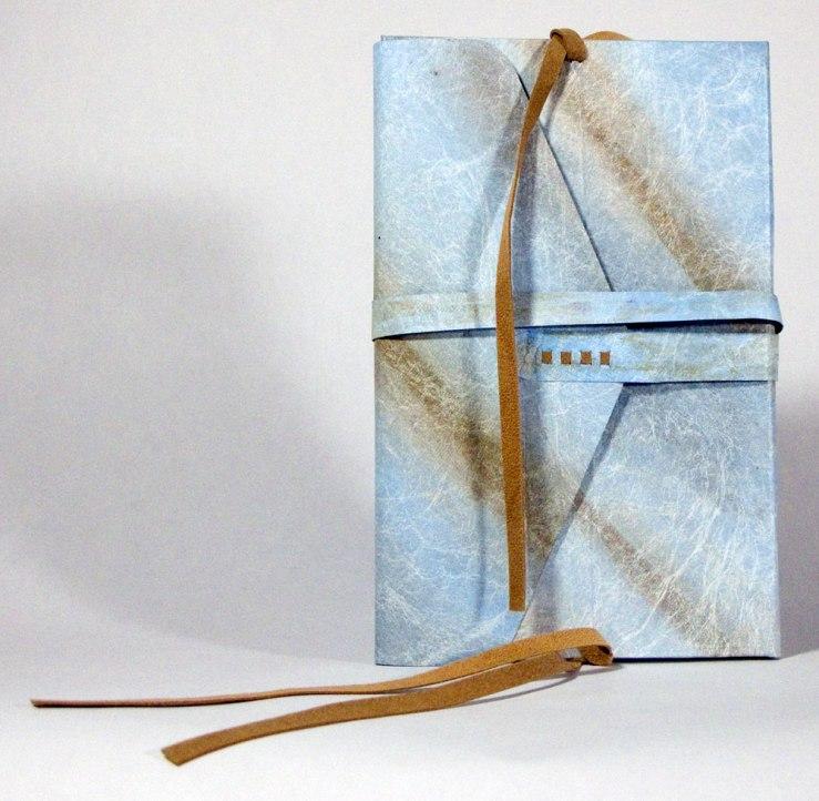 Nag Hammadi Artist's Book by Julie R. Filatoff: Tyvek cover, suede ties.