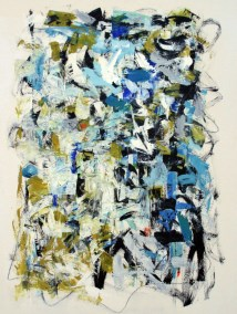 """South Beach III <br>39"""" X 30"""" Mixed Media on Paper"""