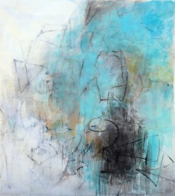"Depth of Field III<br>60"" X 54"" Mixed Media on Canvas"