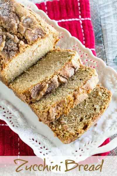 Zucchini Bread ~ Delicious, Comforting Zucchini Bread Recipe Straight from Grandma's Recipe Box! Moist, Delicious Quick Bread Stuffed with Zucchini!