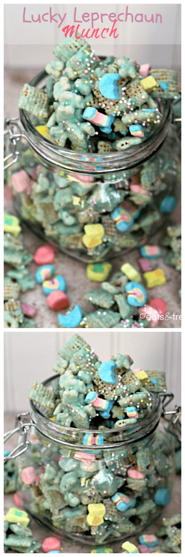 Lucky Leprechaun Munch ~ Chex Mix Loaded with Lucky Charms!