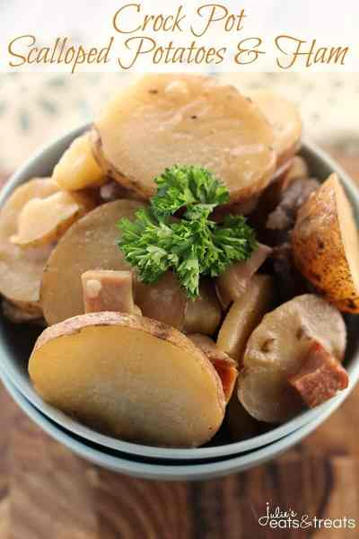 Crock Pot Scalloped Potatoes Ham ~ Simple, Delicious Scalloped Potatoes & Ham Made in the Slow Cooker!