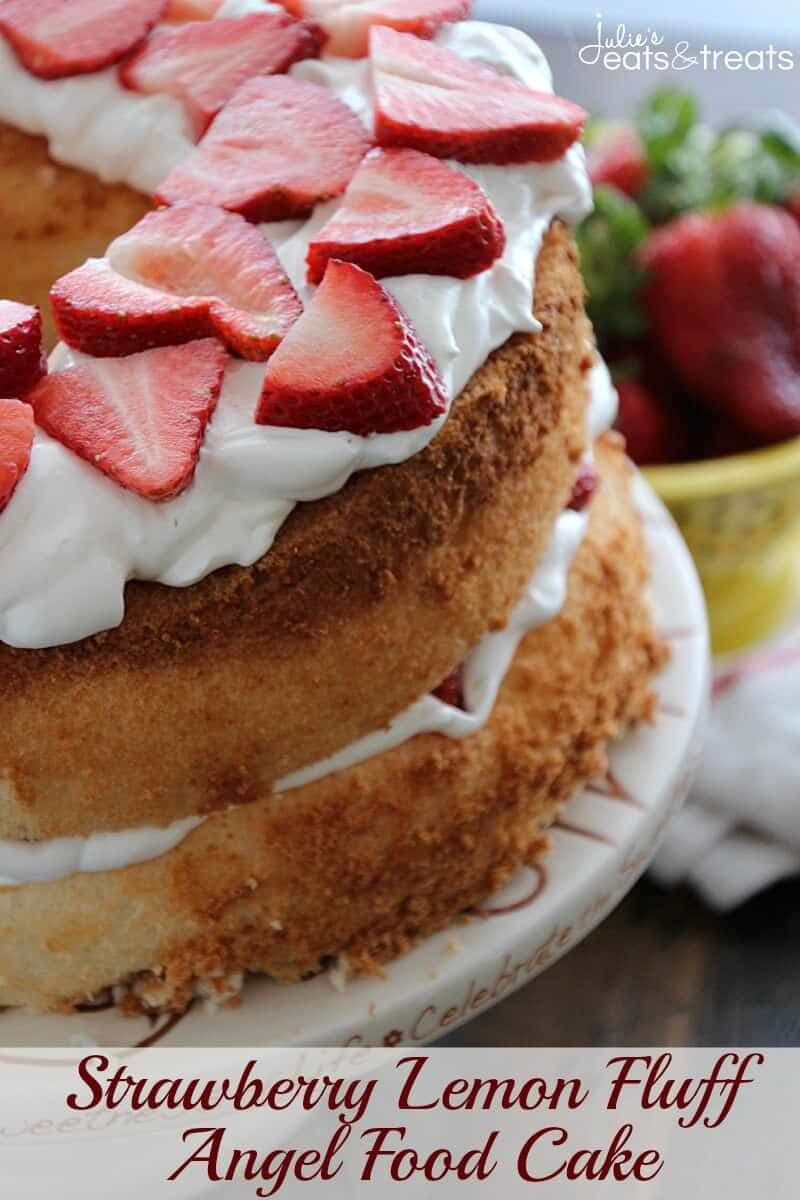 Lemon Fluff Angel Food Cake