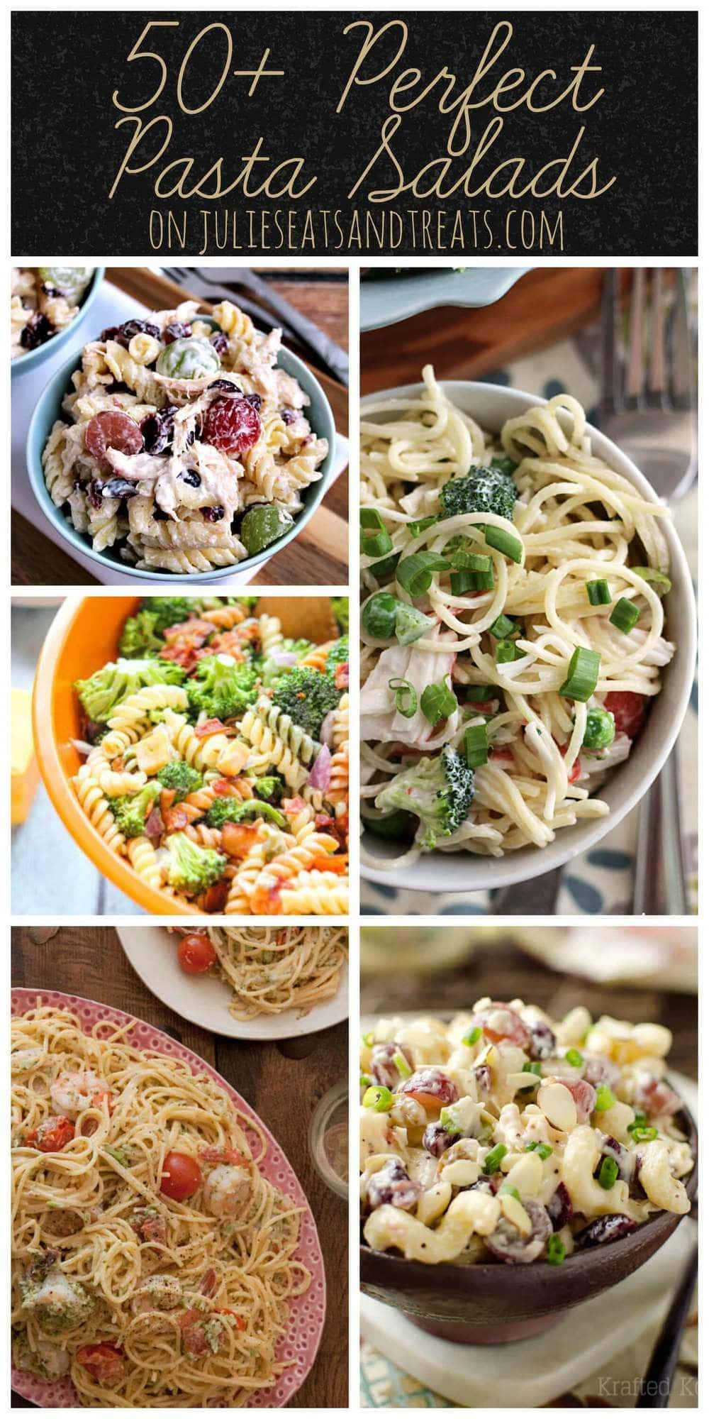 50+ Perfect Pasta Salads ~ You name it we have it! Everything from vegan to meat lovers, these pasta salads will spice up your summer.